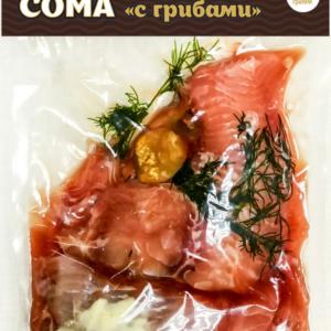 Мясо мраморного сома «С грибами»